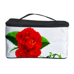 Red Roses Decor Clipart Cosmetic Storage Cases by AlteredStates