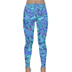 Blue Confetti Storm Yoga Leggings by KirstenStarFashion