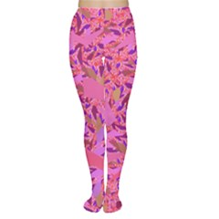 Bright Pink Confetti Storm Tights by KirstenStarFashion
