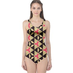 Shapes In Triangles Pattern Women s One Piece Swimsuit by LalyLauraFLM