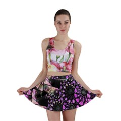 Hippy Fractal Spiral Stacks Mini Skirts by KirstenStarFashion