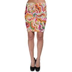 Sunshine Swirls Bodycon Skirts by KirstenStarFashion
