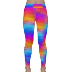 Psychedelic Rainbow Heat Waves Yoga Leggings by KirstenStarFashion
