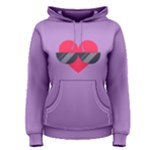 SUNGLASSES HEART Women s Pullover Hoodies