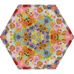 Floral Fantasy  by M. Nicole van Dam Mini Folding Umbrella