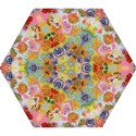 Floral Fantasy  by M. Nicole van Dam Mini Folding Umbrella View1