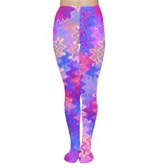 Pink And Purple Marble Waves Women s Tights by KirstenStarFashion