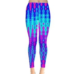 Melting Blues And Pinks Women s Leggings by KirstenStarFashion