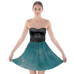 Crazy Beautiful Abstract  Strapless Bra Top Dress by OCDesignss