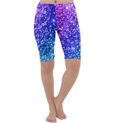 Glitter Ocean Bokeh Cropped Leggings by KirstenStarFashion