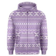 Fancy Tribal Borders Lilac Men s Zipper Hoodies by ImpressiveMoments