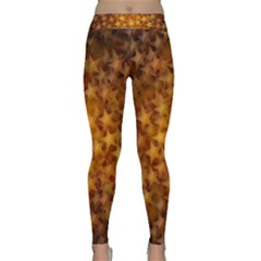 Gold Stars Yoga Leggings by KirstenStarFashion