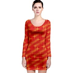 Many Stars,red Long Sleeve Bodycon Dresses by ImpressiveMoments