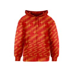 Many Stars,red Kids Zipper Hoodies by ImpressiveMoments