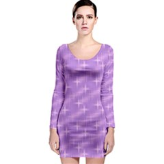 Many Stars, Lilac Long Sleeve Bodycon Dresses by ImpressiveMoments