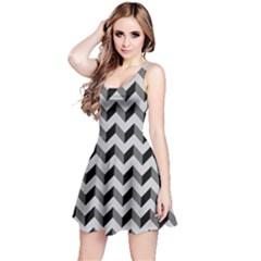 Modern Retro Chevron Patchwork Pattern  Reversible Sleeveless Dresses by creativemom