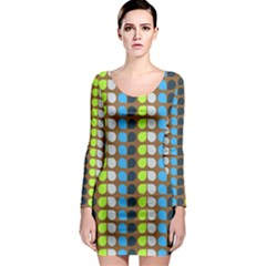 Colorful Leaf Pattern Long Sleeve Bodycon Dresses by creativemom