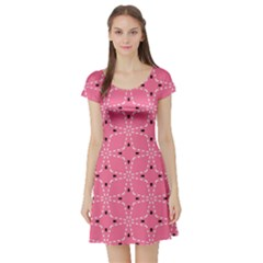 Cute Pretty Elegant Pattern Short Sleeve Skater Dresses by creativemom