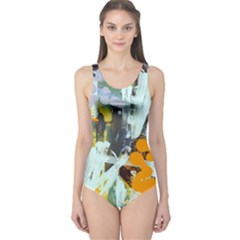 Abstract Country Garden Women s One Piece Swimsuits by digitaldivadesigns