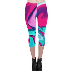 Fluid Art 22 Capri Leggings by ImpressiveMoments