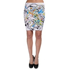 Abstract Fun Design Bodycon Skirts by digitaldivadesigns