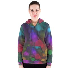 Modern Bokeh 15 Women s Zipper Hoodies by ImpressiveMoments