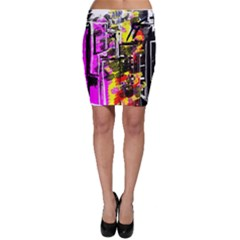 Abstract City View Bodycon Skirts by digitaldivadesigns