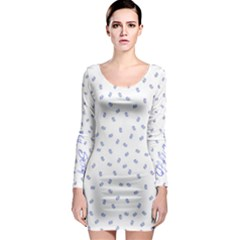 Officially Sexy Os Collection Blue & White Long Sleeve Bodycon Dress by OfficiallySexy
