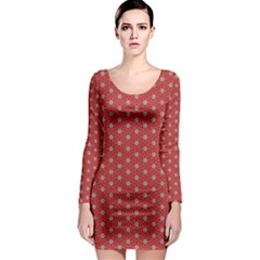 Cute Seamless Tile Pattern Gifts Long Sleeve Bodycon Dresses by creativemom