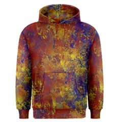 Abstract In Gold, Blue, And Red Men s Pullover Hoodies by digitaldivadesigns