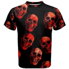 Skulls Red Men s Cotton Tees by ImpressiveMoments