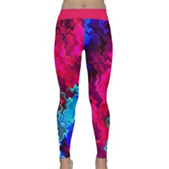 Psychedelic Storm Yoga Leggings by KirstenStarFashion