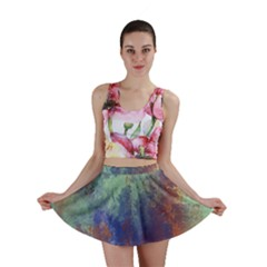 Abstract In Green, Orange, And Blue Mini Skirts by digitaldivadesigns