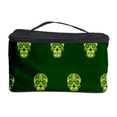 Skull Pattern Green Cosmetic Storage Cases by MoreColorsinLife
