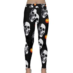 Skulls And Pumpkins Yoga Leggings by MoreColorsinLife