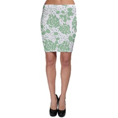 Floral Wallpaper Green Bodycon Skirts by ImpressiveMoments