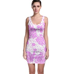 Floral Wallpaper Pink Bodycon Dresses by ImpressiveMoments