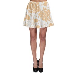 Floral Wallpaper Peach Skater Skirts by ImpressiveMoments