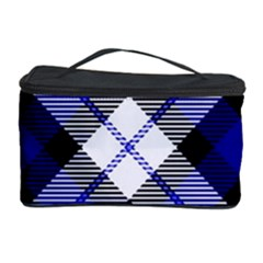 Smart Plaid Blue Cosmetic Storage Cases by ImpressiveMoments