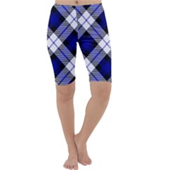 Smart Plaid Blue Cropped Leggings by ImpressiveMoments