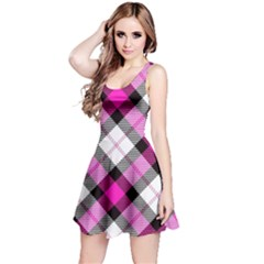 Smart Plaid Hot Pink Reversible Sleeveless Dresses by ImpressiveMoments