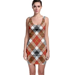 Smart Plaid Warm Colors Bodycon Dresses by ImpressiveMoments