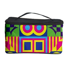 Colorful Shapes In Rhombus Pattern Cosmetic Storage Case by LalyLauraFLM