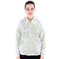 Green Vegetables Women s Zipper Hoodies by Famous