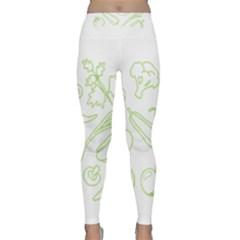 Green Vegetables Yoga Leggings by Famous