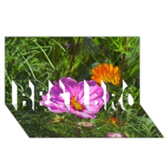 Amazing Garden Flowers 24 Best Bro 3d Greeting Card (8x4)