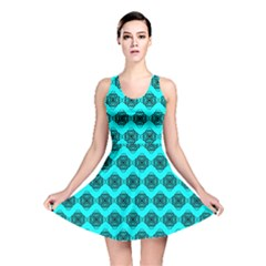 Abstract Knot Geometric Tile Pattern Reversible Skater Dresses by creativemom