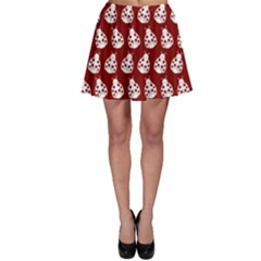 Ladybug Vector Geometric Tile Pattern Skater Skirts by creativemom