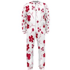 Sweet Shiny Floral Red Onepiece Jumpsuit (men)  by ImpressiveMoments