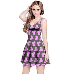 Cute Baby Socks Illustration Pattern Reversible Sleeveless Dresses by creativemom